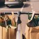 Cykel med matkassar