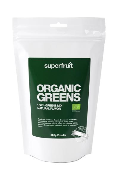 Superfruit Organic greens pulver (300 g)